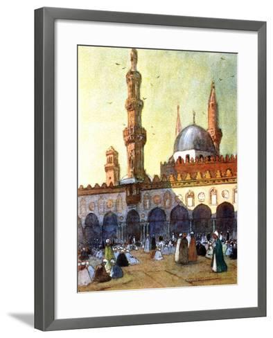 The Mosque of Al-Azhar, Cairo, Egypt, 1928-Louis Cabanes-Framed Art Print