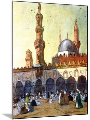 The Mosque of Al-Azhar, Cairo, Egypt, 1928-Louis Cabanes-Mounted Giclee Print
