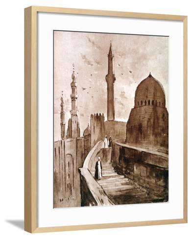 The Citadel at Sunrise, Cairo, Egypt, 1928-Louis Cabanes-Framed Art Print