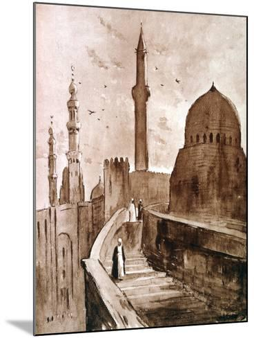 The Citadel at Sunrise, Cairo, Egypt, 1928-Louis Cabanes-Mounted Giclee Print