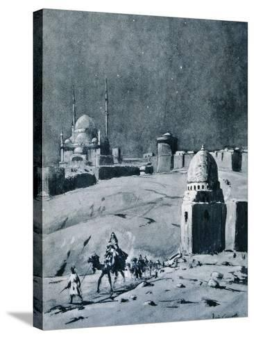 Mosque of Muhammad Ali under Moonlight, Cairo, Egypt, 1928-Louis Cabanes-Stretched Canvas Print