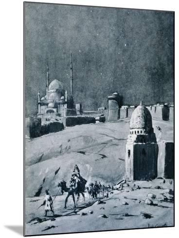 Mosque of Muhammad Ali under Moonlight, Cairo, Egypt, 1928-Louis Cabanes-Mounted Giclee Print