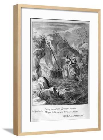 The Argonauts Pass the Symplegades, 1655-Michel de Marolles-Framed Art Print