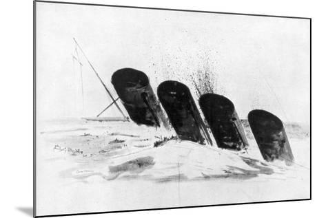 The Sinking of RMS Lusitania, 7 May 1915-Oliver Bernard-Mounted Giclee Print