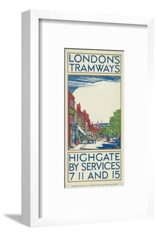 Highgate by Services 7, 11 and 15, London County Council (LC) Tramways Poster, 1924-Oliver Burridge-Framed Art Print