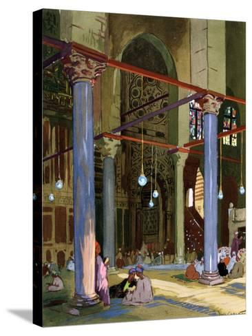Interior of the Al-Mu'Ayyad Mosque, Cairo, Egypt, 1928-Louis Cabanes-Stretched Canvas Print