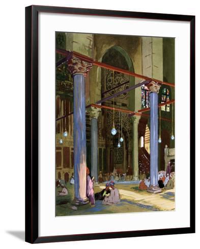 Interior of the Al-Mu'Ayyad Mosque, Cairo, Egypt, 1928-Louis Cabanes-Framed Art Print