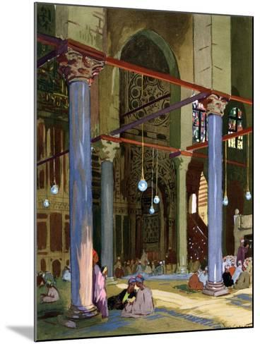Interior of the Al-Mu'Ayyad Mosque, Cairo, Egypt, 1928-Louis Cabanes-Mounted Giclee Print
