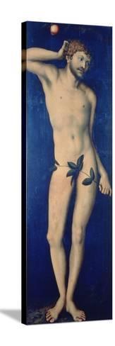 Adam, 1528-Lucas Cranach the Elder-Stretched Canvas Print