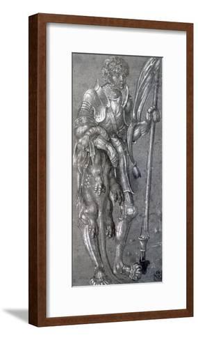 St George, C1504-1553-Lucas Cranach the Elder-Framed Art Print
