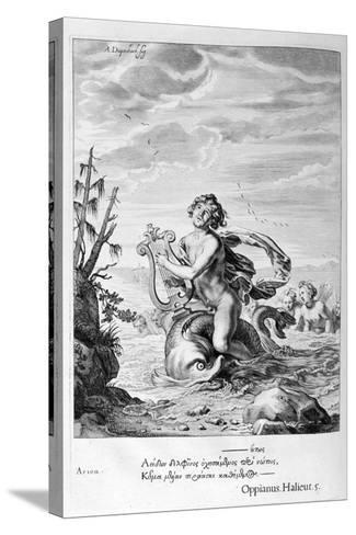 Arion Saved by a Dolphin, 1655-Michel de Marolles-Stretched Canvas Print
