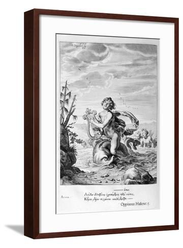 Arion Saved by a Dolphin, 1655-Michel de Marolles-Framed Art Print