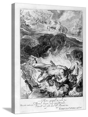 The Death of Hercules, 1655-Michel de Marolles-Stretched Canvas Print