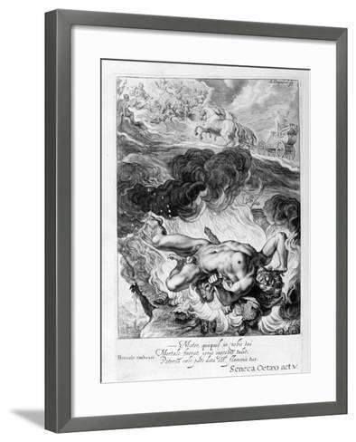 The Death of Hercules, 1655-Michel de Marolles-Framed Art Print