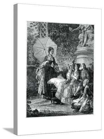The Delight of Motherhood- Moreau-Stretched Canvas Print