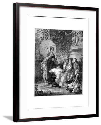 The Delight of Motherhood- Moreau-Framed Art Print