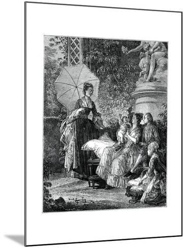 The Delight of Motherhood- Moreau-Mounted Giclee Print