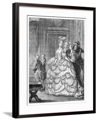 The Queen at the Palace- Moreau-Framed Art Print