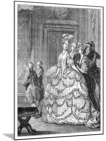 The Queen at the Palace- Moreau-Mounted Giclee Print