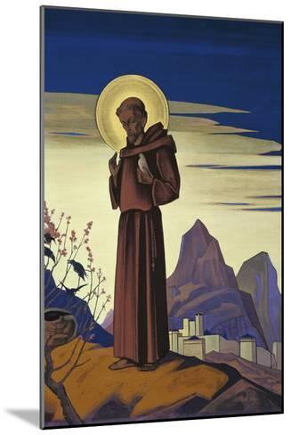 Saint Francis, 1932-Nicholas Roerich-Mounted Giclee Print