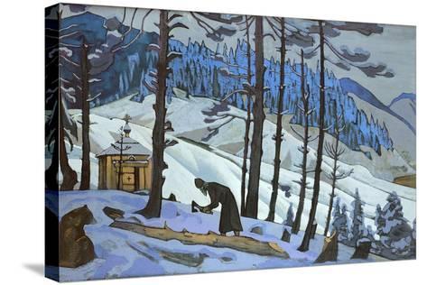 Saint Sergius the Builder, 1925-Nicholas Roerich-Stretched Canvas Print