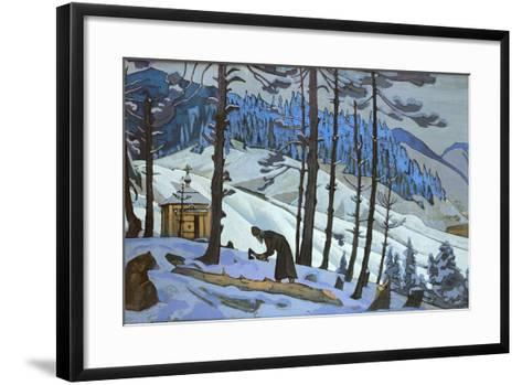Saint Sergius the Builder, 1925-Nicholas Roerich-Framed Art Print
