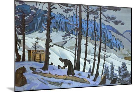 Saint Sergius the Builder, 1925-Nicholas Roerich-Mounted Giclee Print
