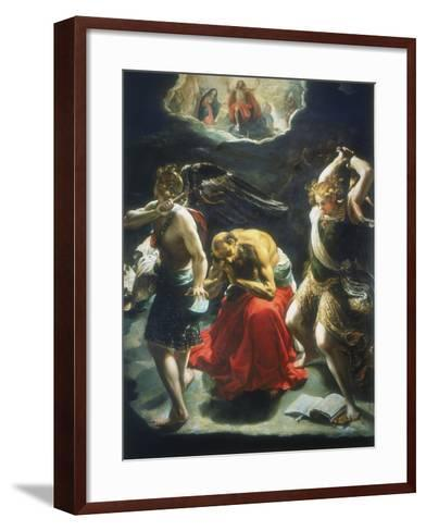 St Jerome's Dream, C1600-Orazio Borgianni-Framed Art Print