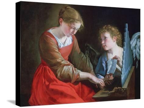 St Cecilia and an Angel, C1617-1618 and C1621-1627-Orazio Gentileschi-Stretched Canvas Print
