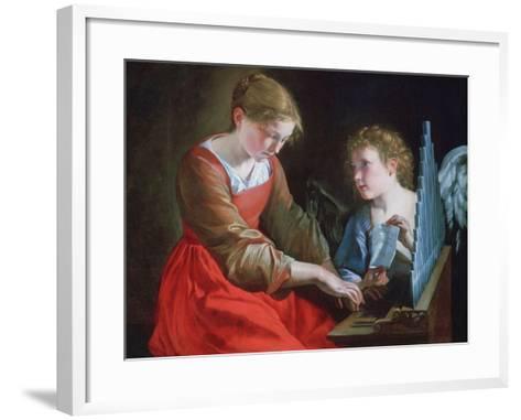 St Cecilia and an Angel, C1617-1618 and C1621-1627-Orazio Gentileschi-Framed Art Print
