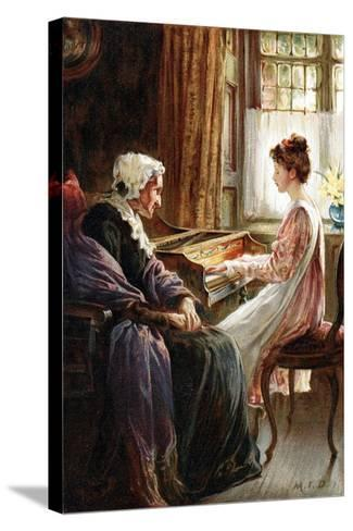 Their Evening Hymn, 1892-Margaret Isabel Dicksee-Stretched Canvas Print
