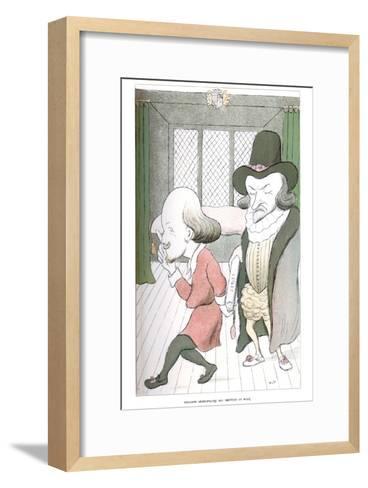 William Shakespeare, His Method of Work, 1904-Max Beerbohm-Framed Art Print
