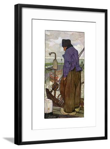 A Dutch Boatman, 1898-Nico Jungmann-Framed Art Print
