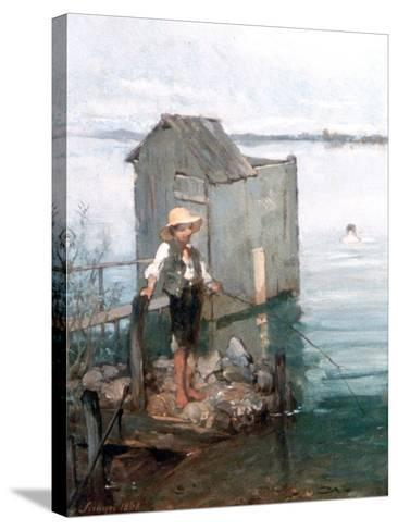 Bathing Hut with Boy, 1868-Pal Szinyei Merse-Stretched Canvas Print