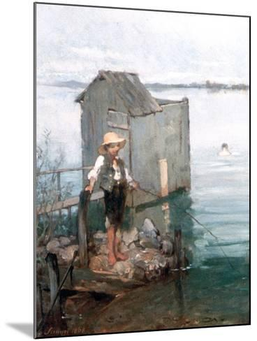 Bathing Hut with Boy, 1868-Pal Szinyei Merse-Mounted Giclee Print