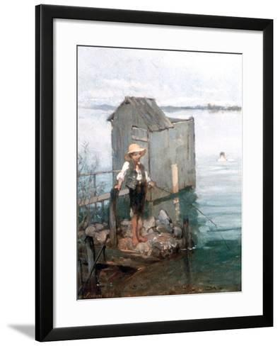 Bathing Hut with Boy, 1868-Pal Szinyei Merse-Framed Art Print