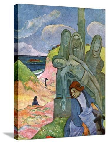 The Green Christ, 1889-Paul Gauguin-Stretched Canvas Print