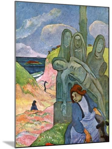 The Green Christ, 1889-Paul Gauguin-Mounted Giclee Print