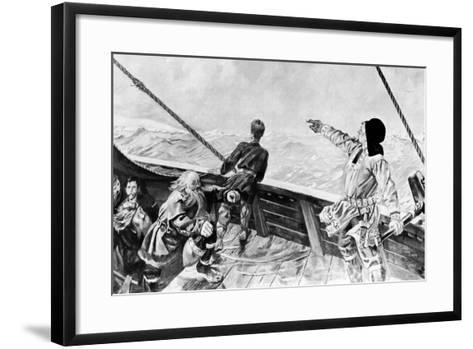 Leif Ericson Discovering America-Per Krohg-Framed Art Print