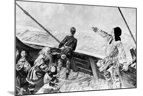 Leif Ericson Discovering America-Per Krohg-Mounted Giclee Print