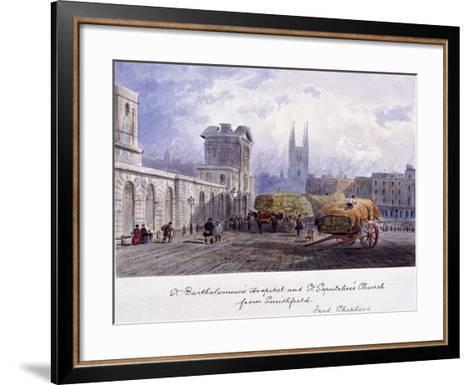 West Smithfield, London, C1840-Percy Bysshe Shelley-Framed Art Print