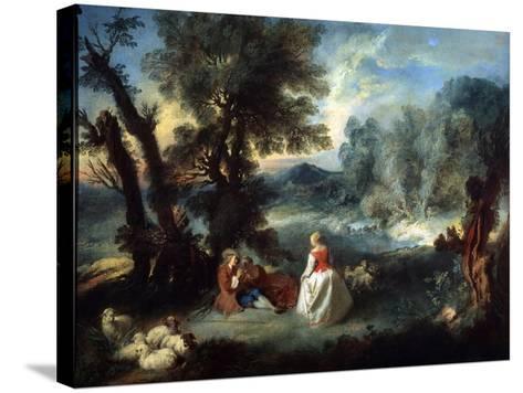 Pastoral Scene, 1730S-Pierre-Antoine Quillard-Stretched Canvas Print