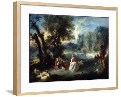 Pastoral Scene, 1730S-Pierre-Antoine Quillard-Framed Art Print