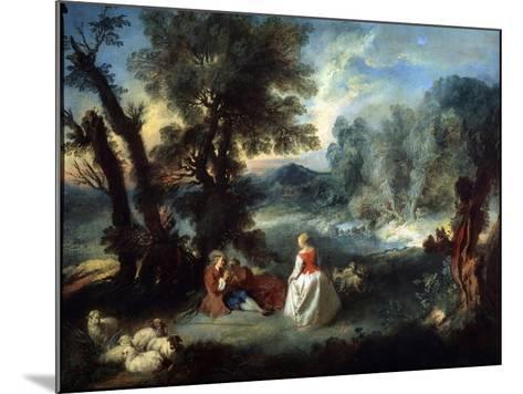 Pastoral Scene, 1730S-Pierre-Antoine Quillard-Mounted Giclee Print