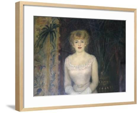 Portrait of the Actress Jeanne Samary, 1878-Pierre-Auguste Renoir-Framed Art Print