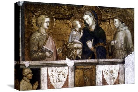 Madonna and Child Between St Francis and St John the Evangelist, C1320S-Pietro Lorenzetti-Stretched Canvas Print