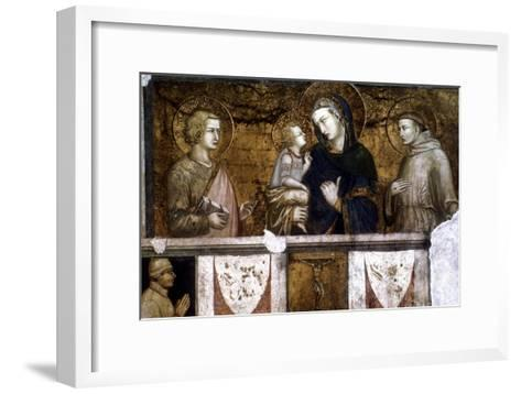 Madonna and Child Between St Francis and St John the Evangelist, C1320S-Pietro Lorenzetti-Framed Art Print