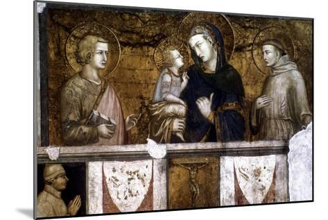 Madonna and Child Between St Francis and St John the Evangelist, C1320S-Pietro Lorenzetti-Mounted Giclee Print