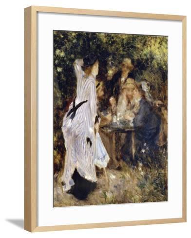 In the Garden (Au Jardin Du Moulin De La Galett), 1876-Pierre-Auguste Renoir-Framed Art Print