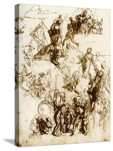 Sketch for the Martyrdom of St George, 1913-Paolo Veronese-Stretched Canvas Print